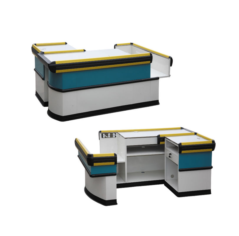 Firm Commercial Checkout Counters L1600-2000*W600*H850MM Crash Protection