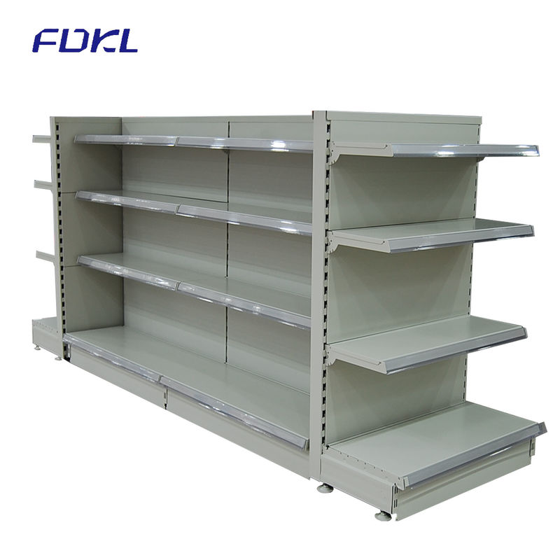 Multi Color Metal Vegetable Display Rack , Commercial Retail Display Shelving