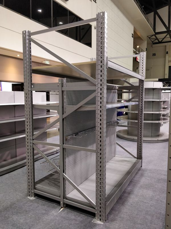 Tegometall Style Supermarket Metal Shelves Two In One Integrated Long Life Spend