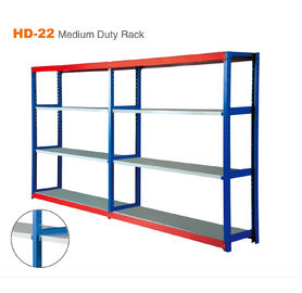 China Easy To Install Industrial Grade Metal Shelving Blue Color For Warehouse Storage factory