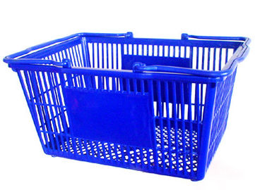 China Light Weight Small Plastic Shopping Baskets With Handles 3 Years Warranty factory