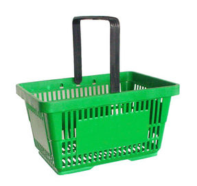 Plastic Carry Basket With Handle , Non Pollution Grocery Store Shopping Baskets