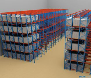 SPCC Material Drive In Pallet Rack With Powder Coating Surface Treatment