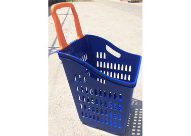 China Hand Hold Plastic Grocery Basket , Easy Using Reusable Shopping Basket factory