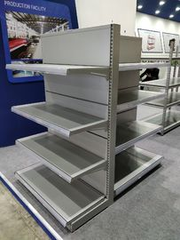 China Single / Double Side Supermarket Metal Shelves With Strong Construction factory