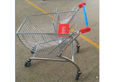 Metal Circular Sector Supermarket Shopping Trolley With 4 Inch Wheels