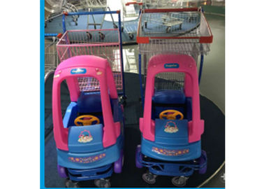 Plastic Steel Supermarket Shopping Cart For Kids Prevent Collision And Injury