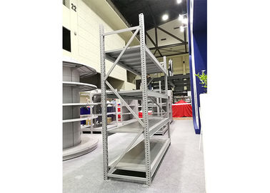 China Medium Duty White Metal Storage Shelves , Custom Made Industrial Shelving factory