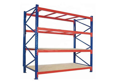 China 4 Layers Durable Heavy Duty Storage Rack Blue And Orange Color Anti Rust factory