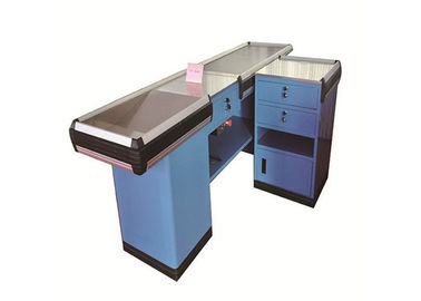 Small Supermarket Checkout Counter SPCC Material Dirt And Water Proof