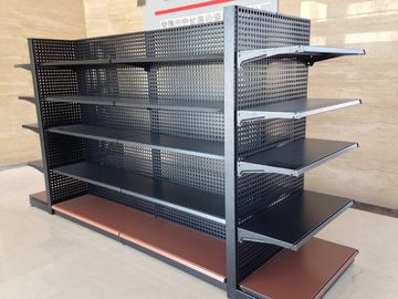 Easy To Assemble Supermarket Metal Shelves 80-120KG UDL Per Level Loading Capacity