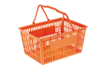 China 30L Capacity Supermarket Shopping Basket Light Weight But Robust Structure factory