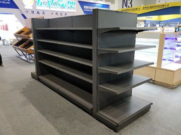 China Pitch 25 Metal Gondola Shelving , Display Shelving For Retail Stores factory