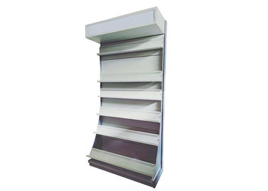 Metal Store Display Shelves For Book / Magazine / CD / Video Customized Size