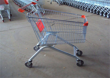 China Metal Color Supermarket Shopping Trolley With Crash Protection Function factory