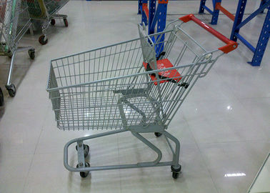 China Easy To Use Supermarket Shopping Trolley With Powder Coating Surface Treatment factory
