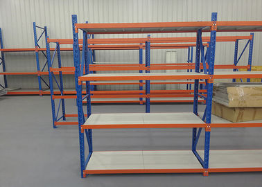 China Free Standing Stainless Steel Shelves , Long Span Industrial Racking Steel Shelving factory