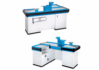 China Customized Design Retail Cash Register Counters , Cash Counter Table For Shop factory