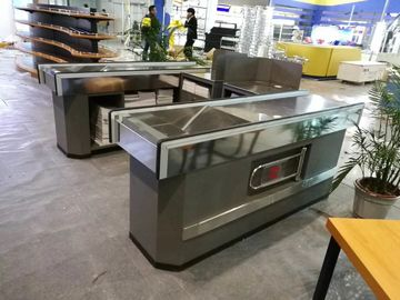 China Table Design Supermarket Cash Counter With Anti Slip Strips On The Bottom factory